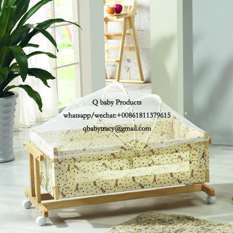 WOODED BABY CRIB 239